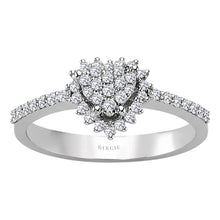 Load image into Gallery viewer, Diamond Heart Shape Entourage Ring