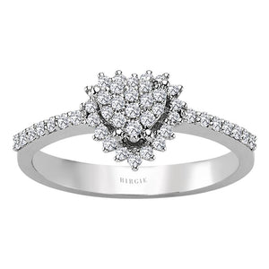Diamond Heart Shape Entourage Ring