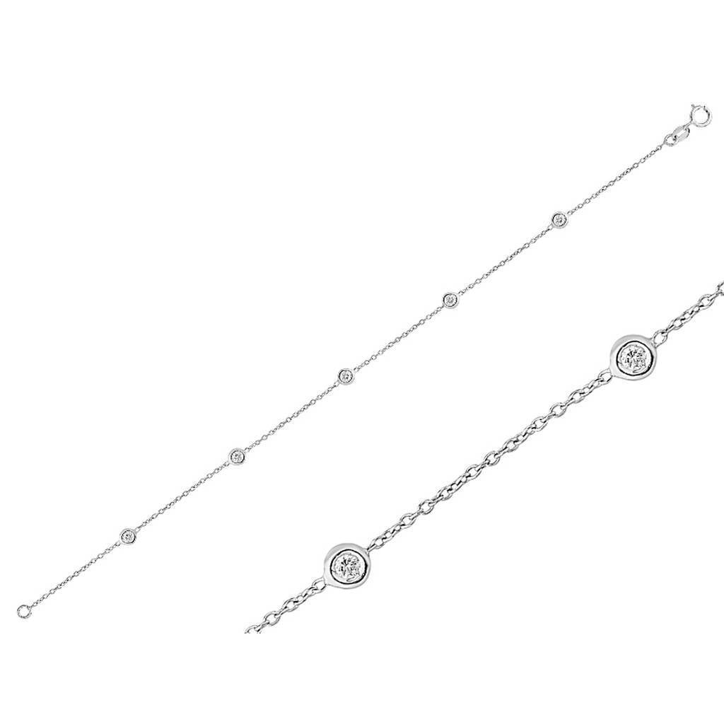 Diamond Stone Chain Bracelet