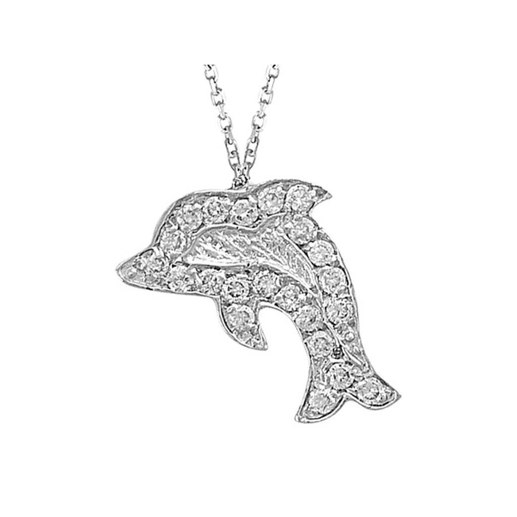 Diamond Fish Necklace