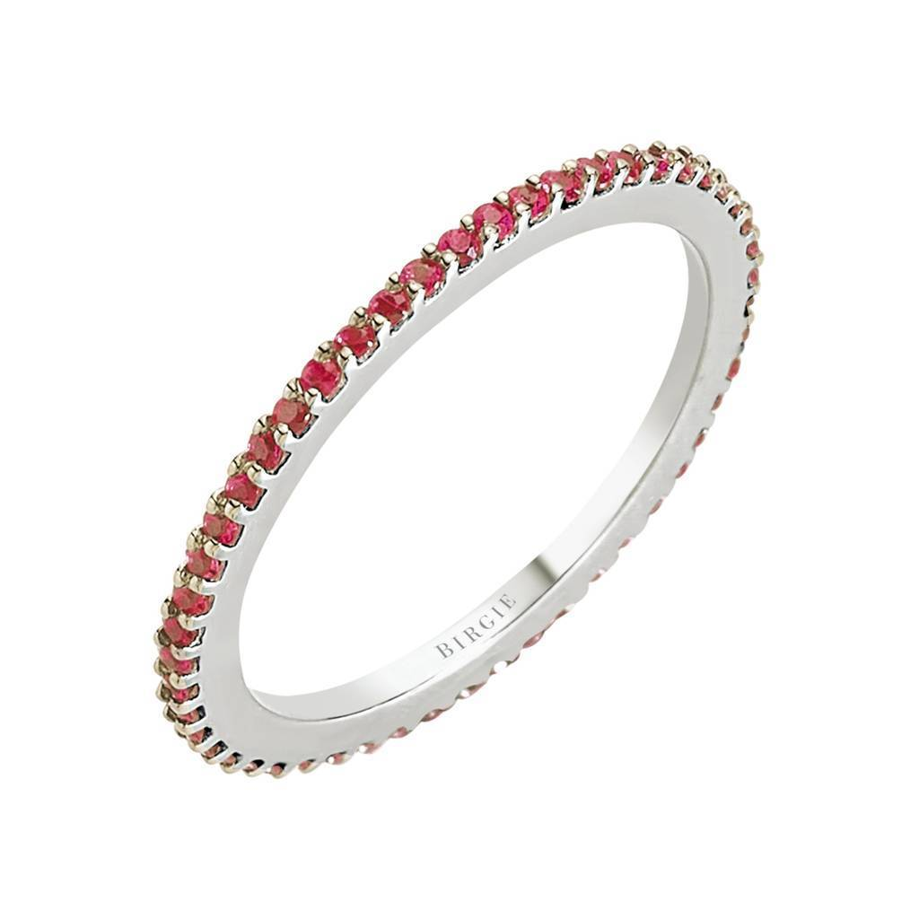 Ruby Stone Eternity Wedding Ring
