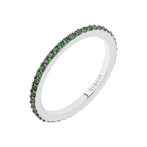 Tsavorite Stone Eternity Wedding Ring