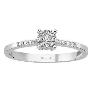 Total 0.15 Carat Diamond Halo Ring