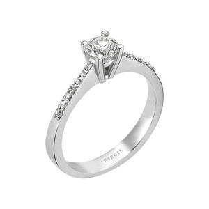 Total 0.58 Carat Diamond Halo Engagement Ring