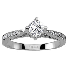 Load image into Gallery viewer, Total 0.51 Carat Diamond Halo Engagement Ring