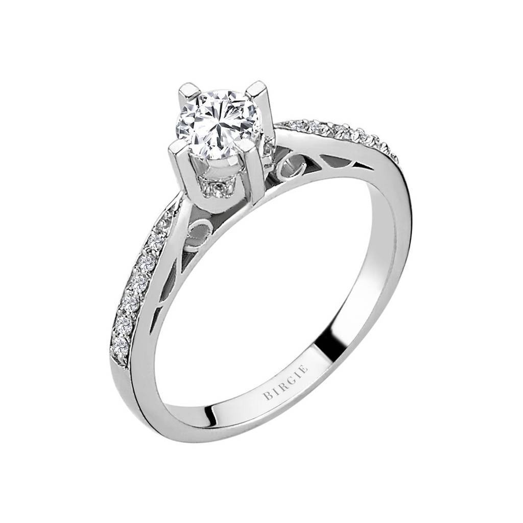 Total 0.51 Carat Diamond Halo Engagement Ring