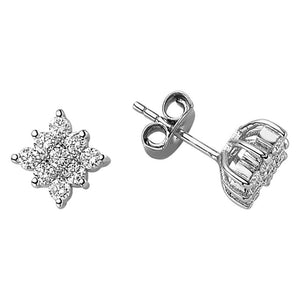 Diamond Stone Earrings