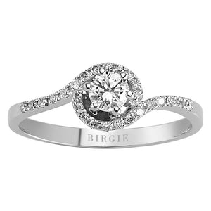 Total 0.34 Carat Diamond Solitaire Ring