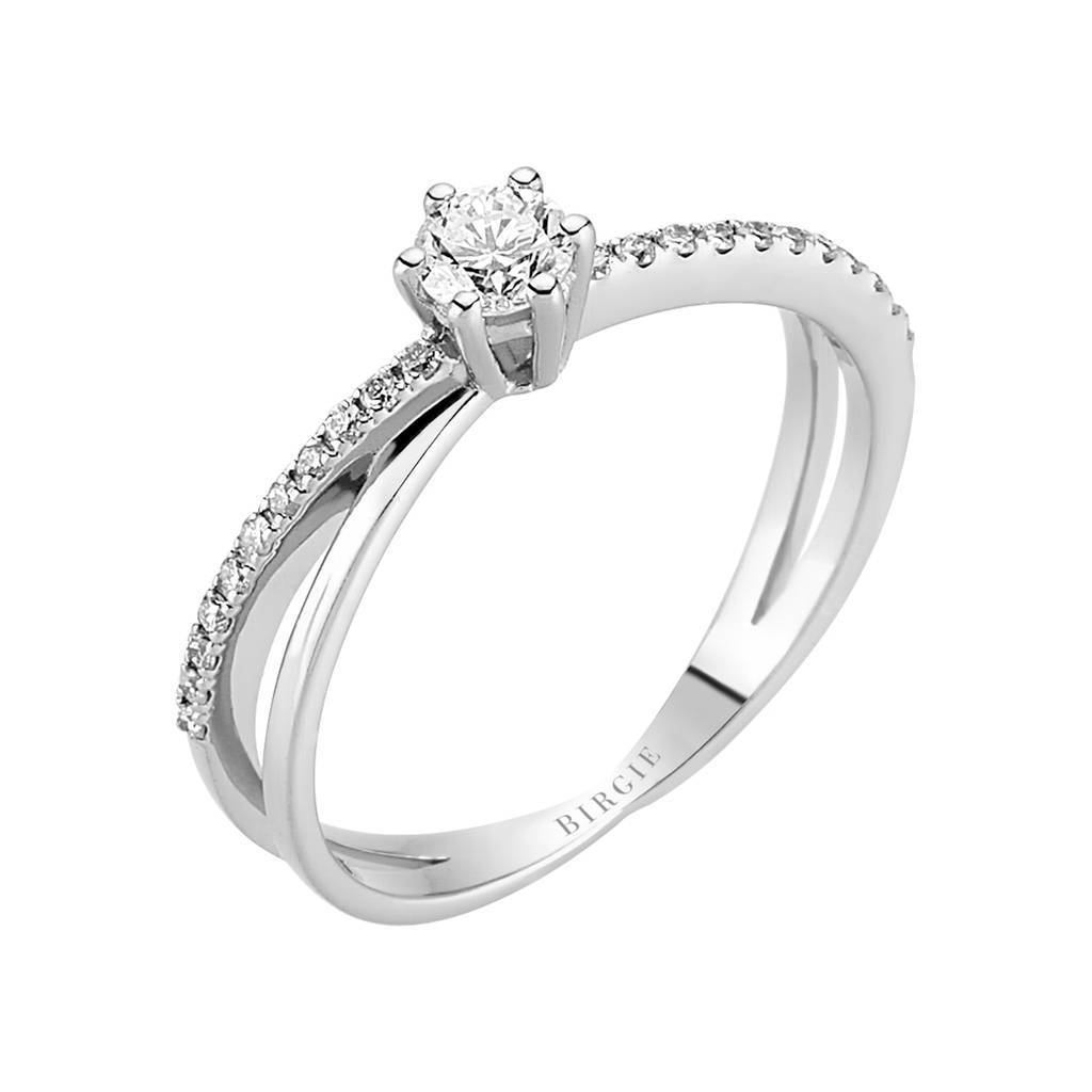 Total 0.36 Carat Diamond Halo Engagement Ring