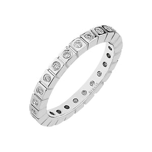 0.24 Carat Diamond Eternity Wedding Ring
