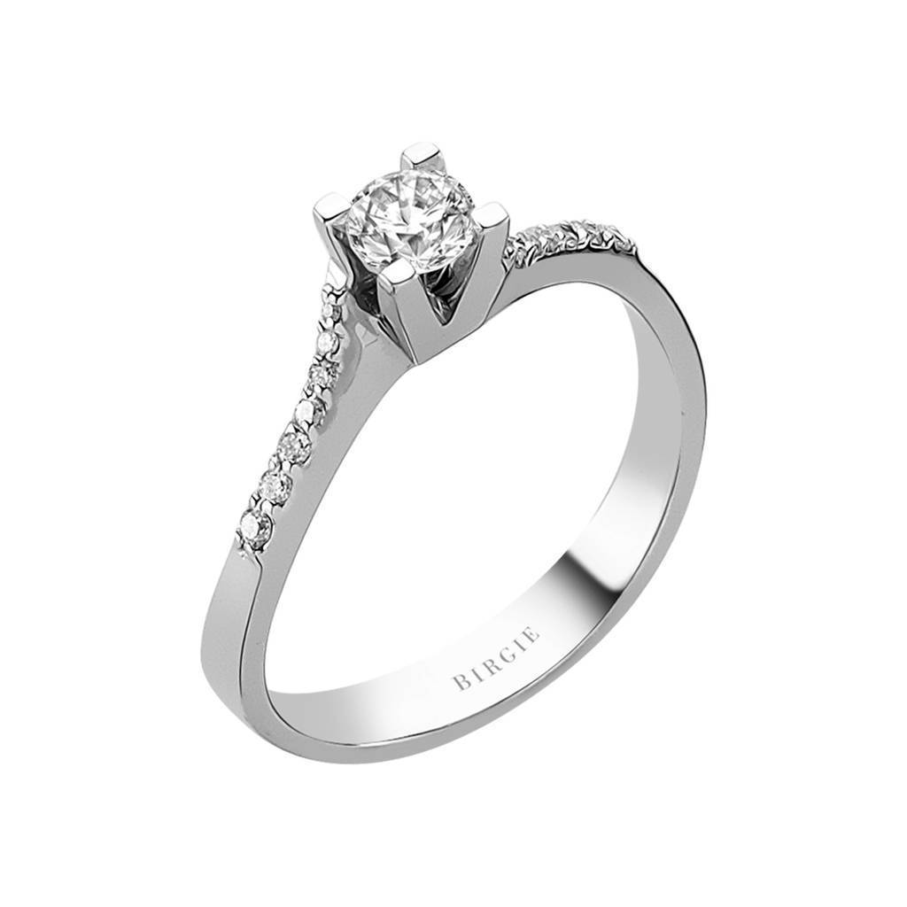 Total 0.40 Carat Diamond Halo Engagement Ring