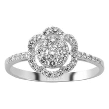 Load image into Gallery viewer, Flower Design Diamond Ring