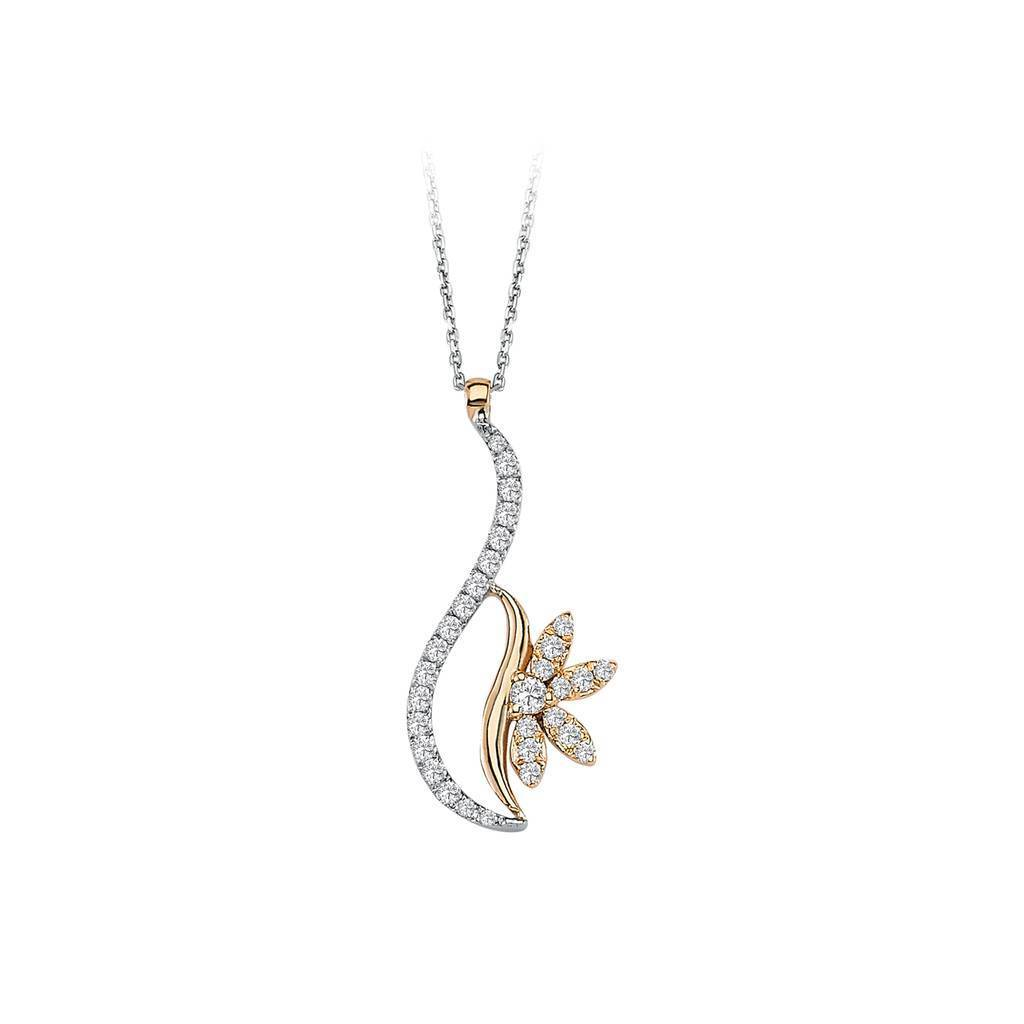 Diamond Snowdrop Necklace
