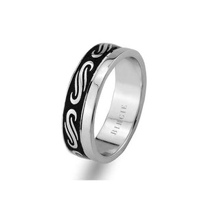 Antique Design White Gold Wedding Band