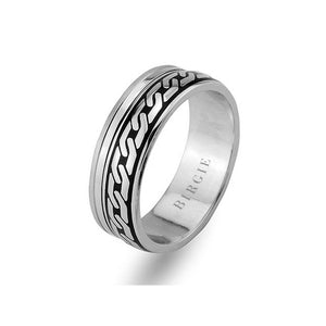 Chain Design White Gold Wedding Band