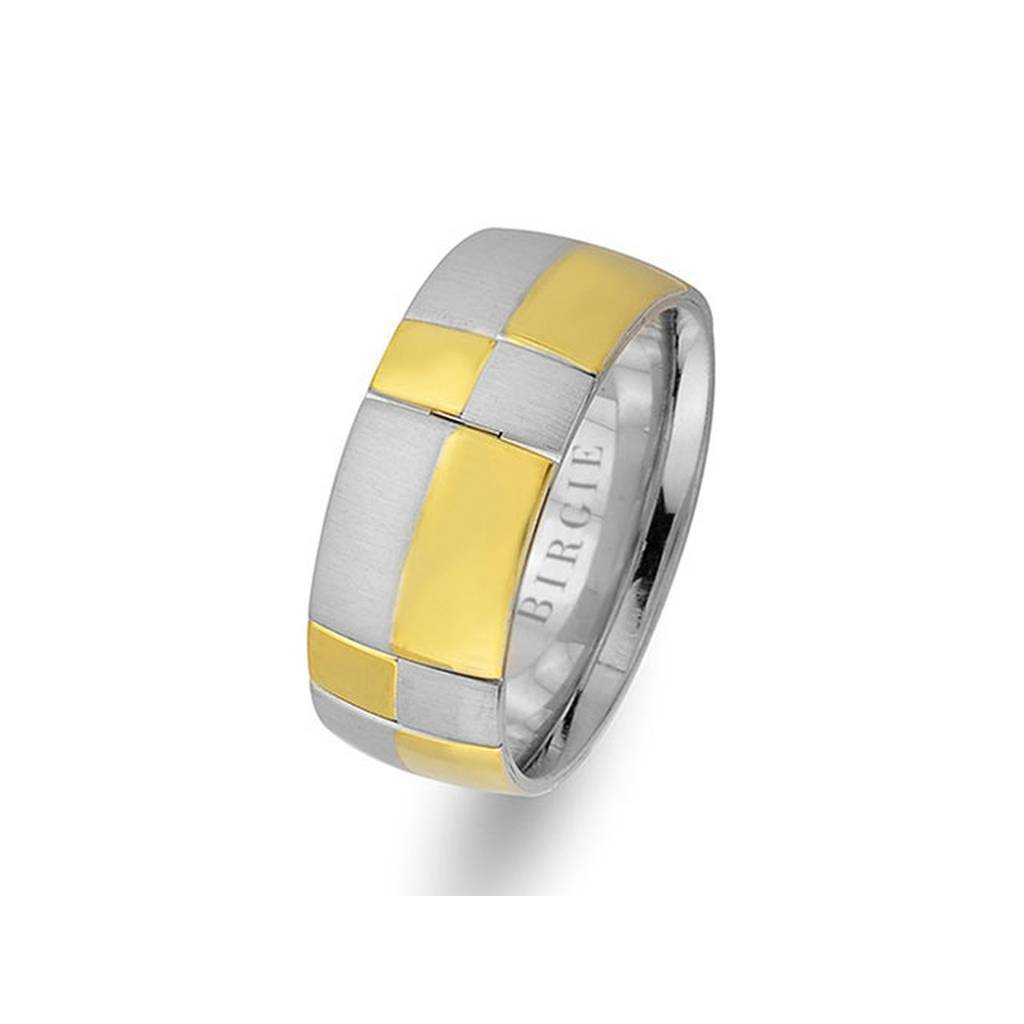 White and Yellow Gold Io Wedding Band