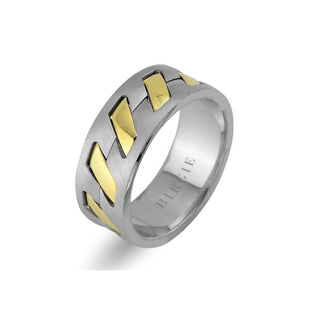 White and Yellow Gold Presto Wedding Band