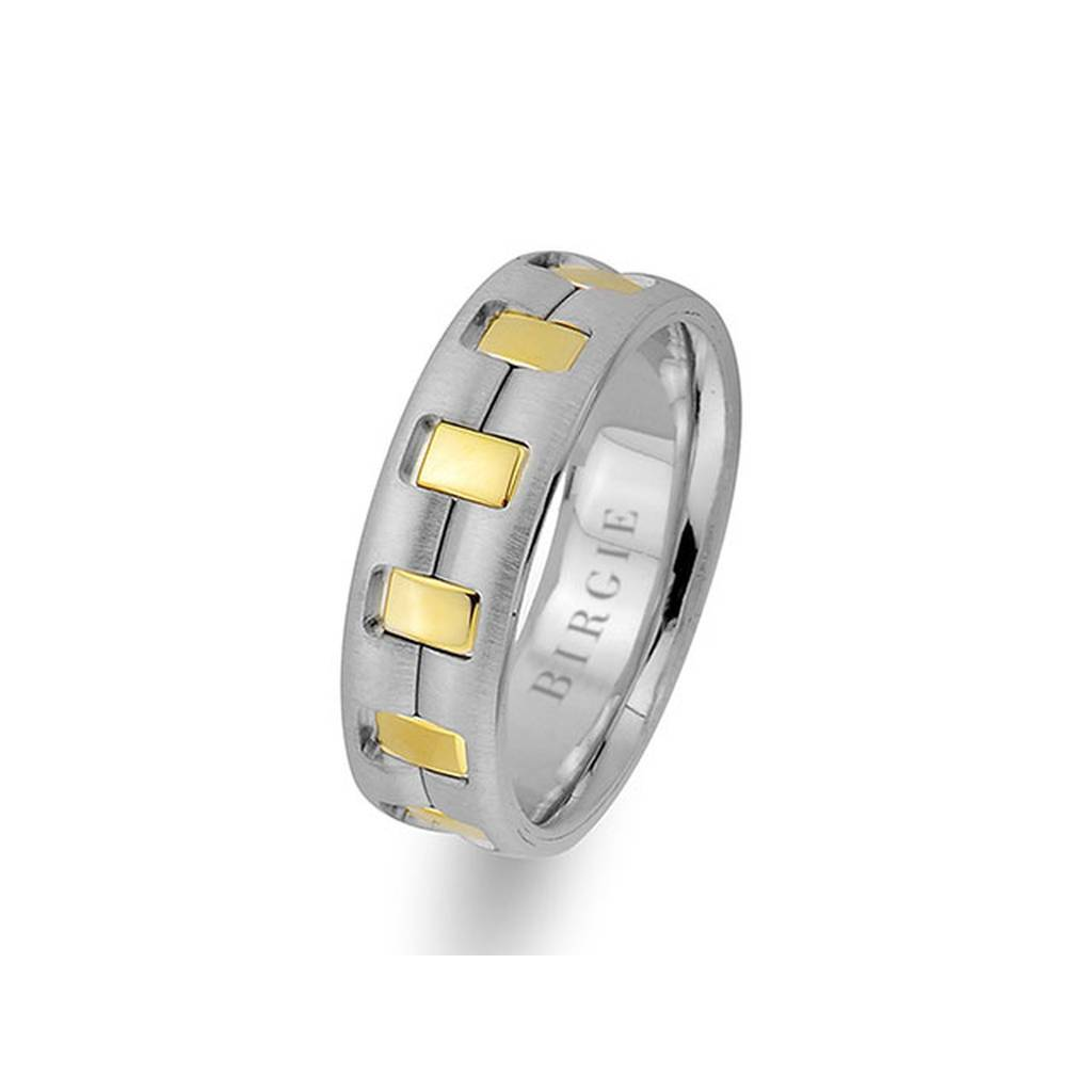 White and Yellow Gold Vivo Wedding Band