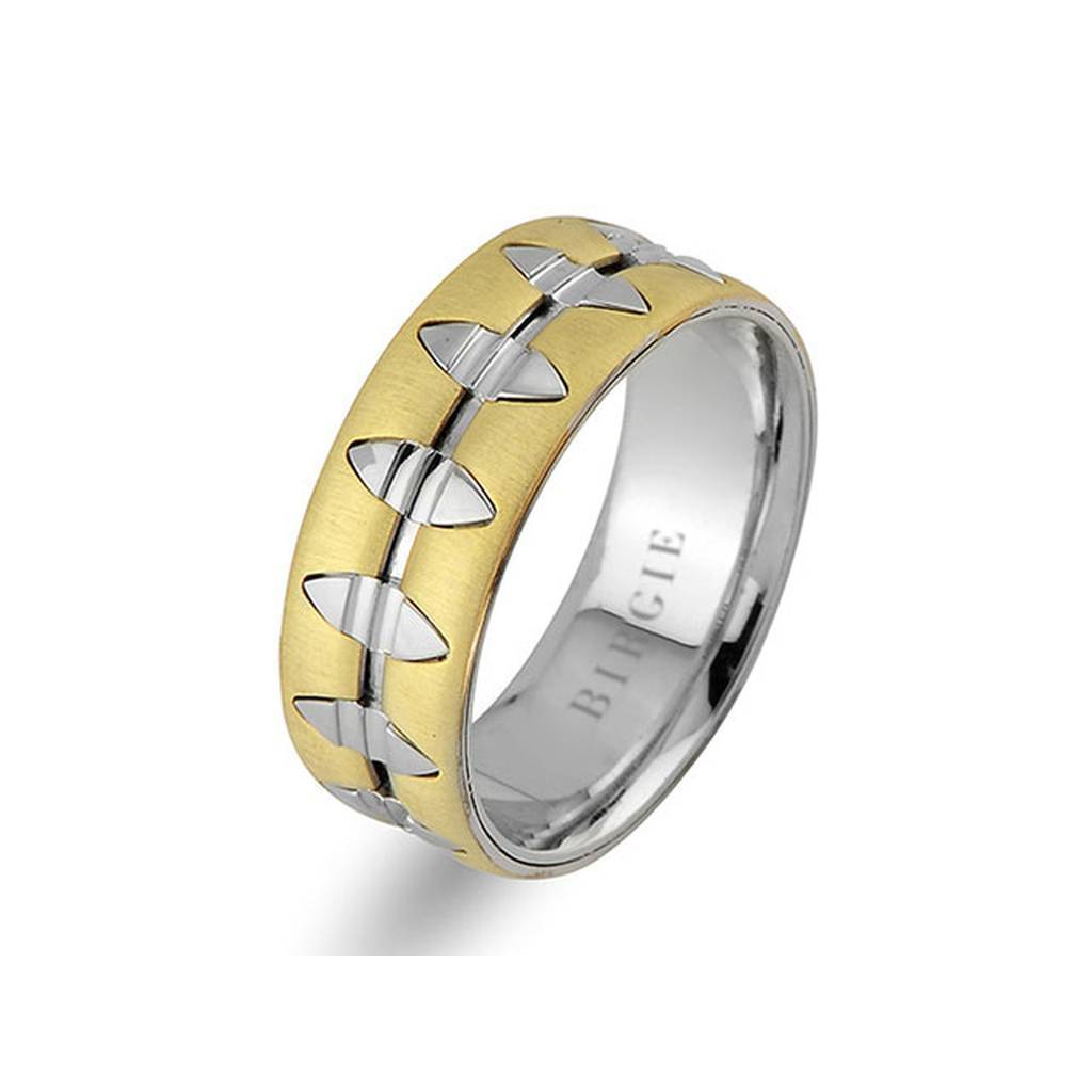 White and Yellow Gold La Lu Wedding Band
