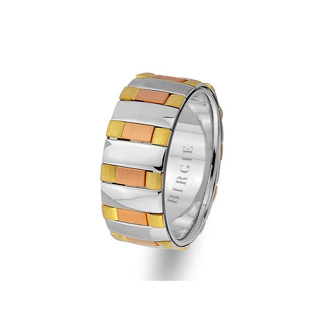 White, Rose and Yellow Gold Molloy Wedding Band