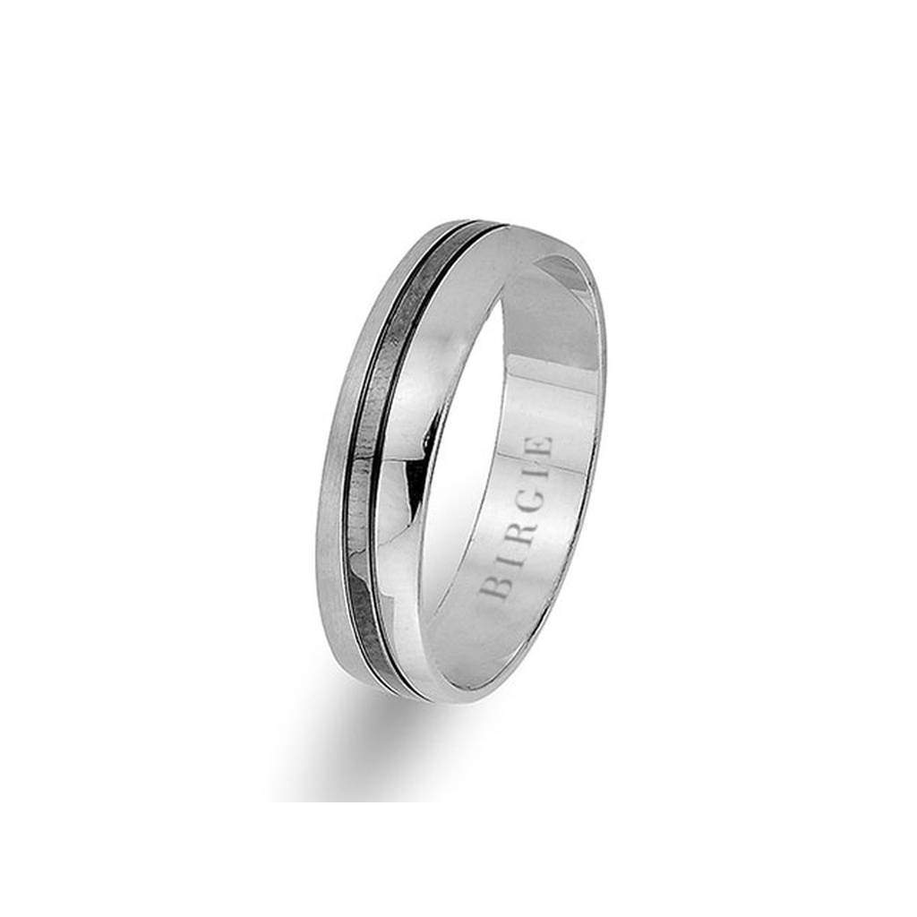 White Gold Classical Wedding Band