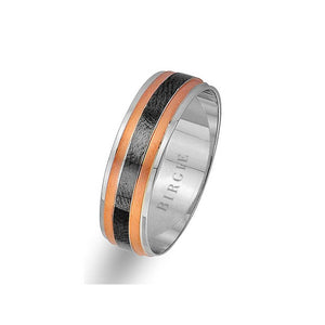 Rose and White Gold Classical Wedding Band