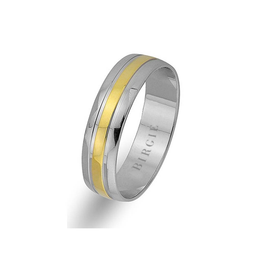 Yellow and White Gold Classical Wedding Band