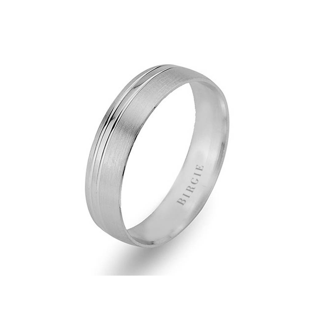 White Gold Matt Classical Wedding Band
