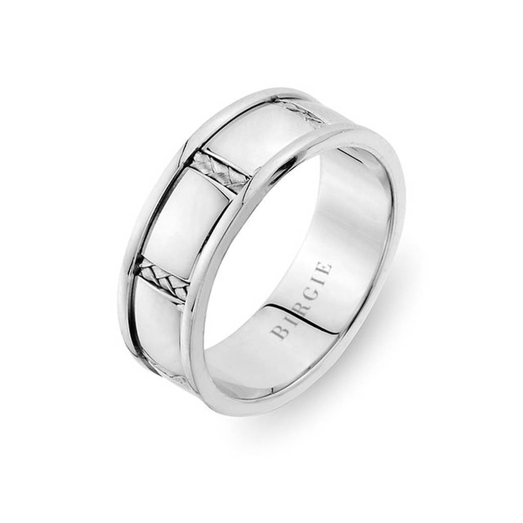 Braided Design White Gold Wedding Band