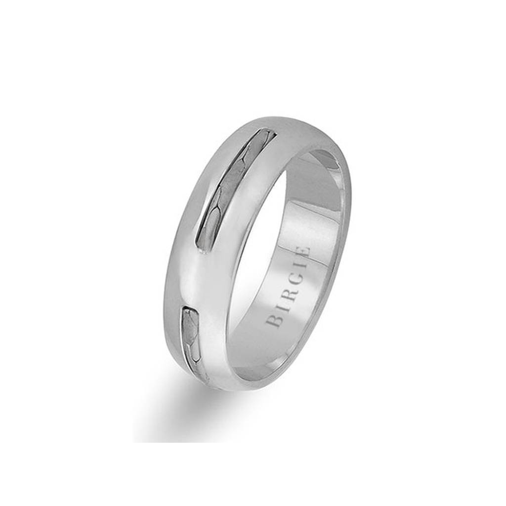 Modern Design White Gold Wedding Band