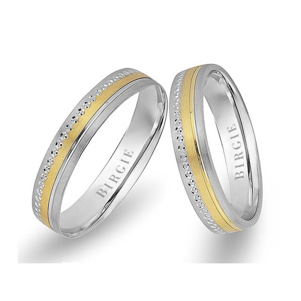 White and Yellow Gold Maya Wedding Band