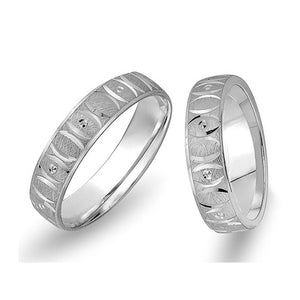 White Gold Bagan Wedding Band