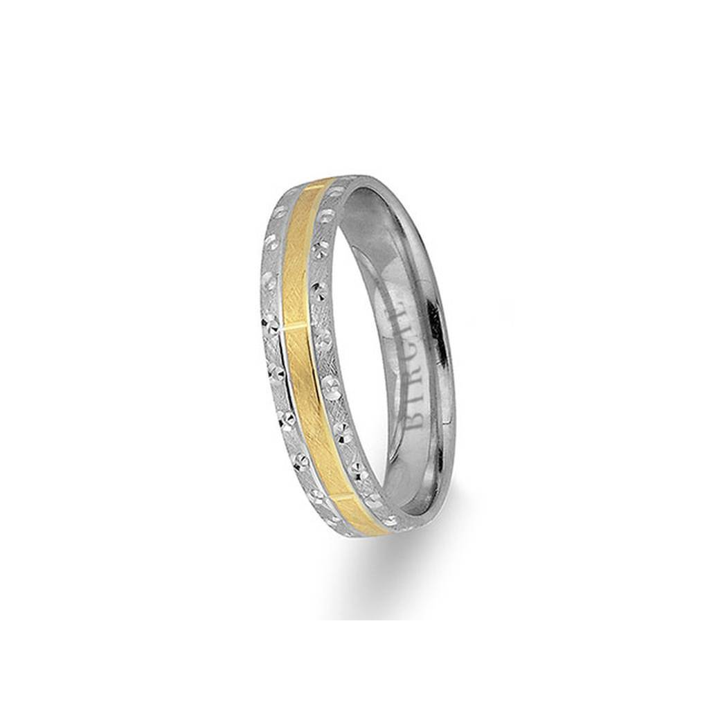 White and Yellow Gold Patara Wedding Band