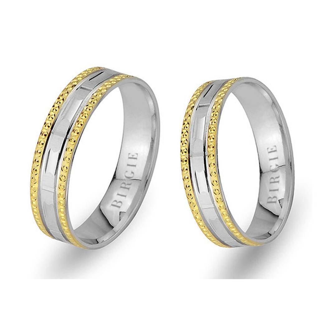 White and Yellow Gold Smyr Wedding Band