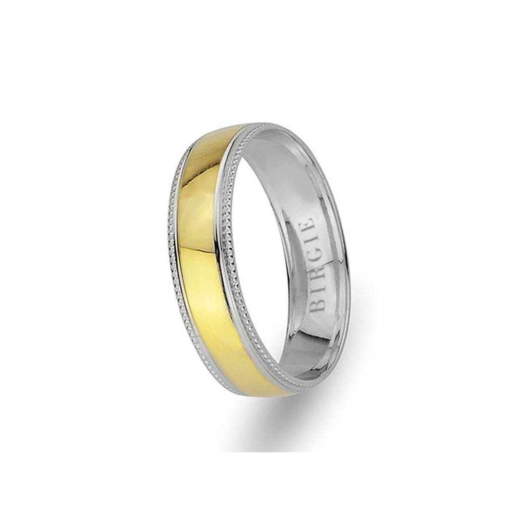 White and Yellow Gold Myra Wedding Band