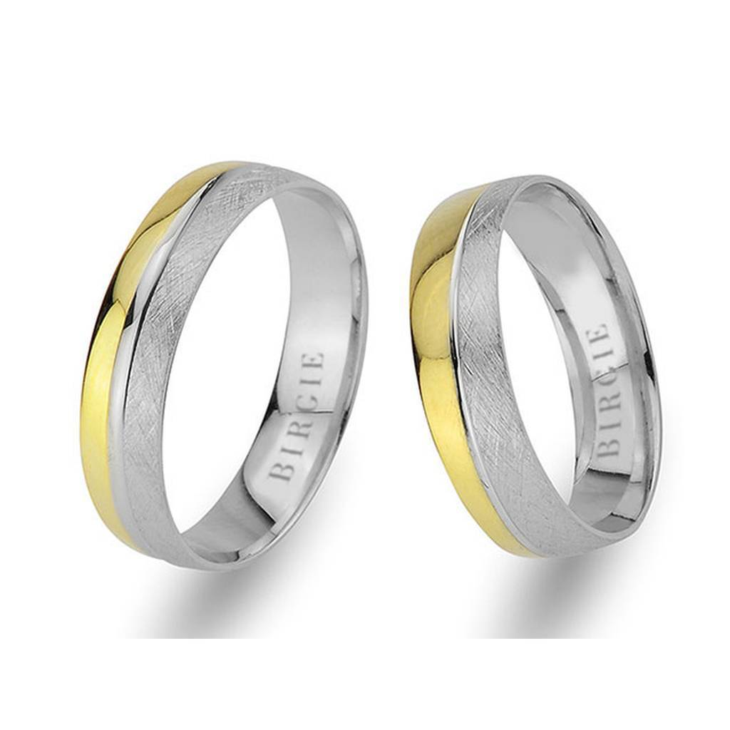 White and Yellow Gold Amidi Wedding Band