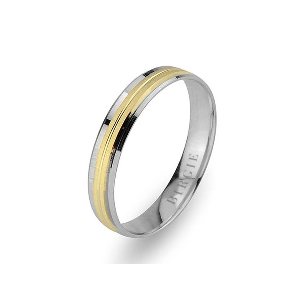 White and Yellow Gold Halfeti Wedding Band