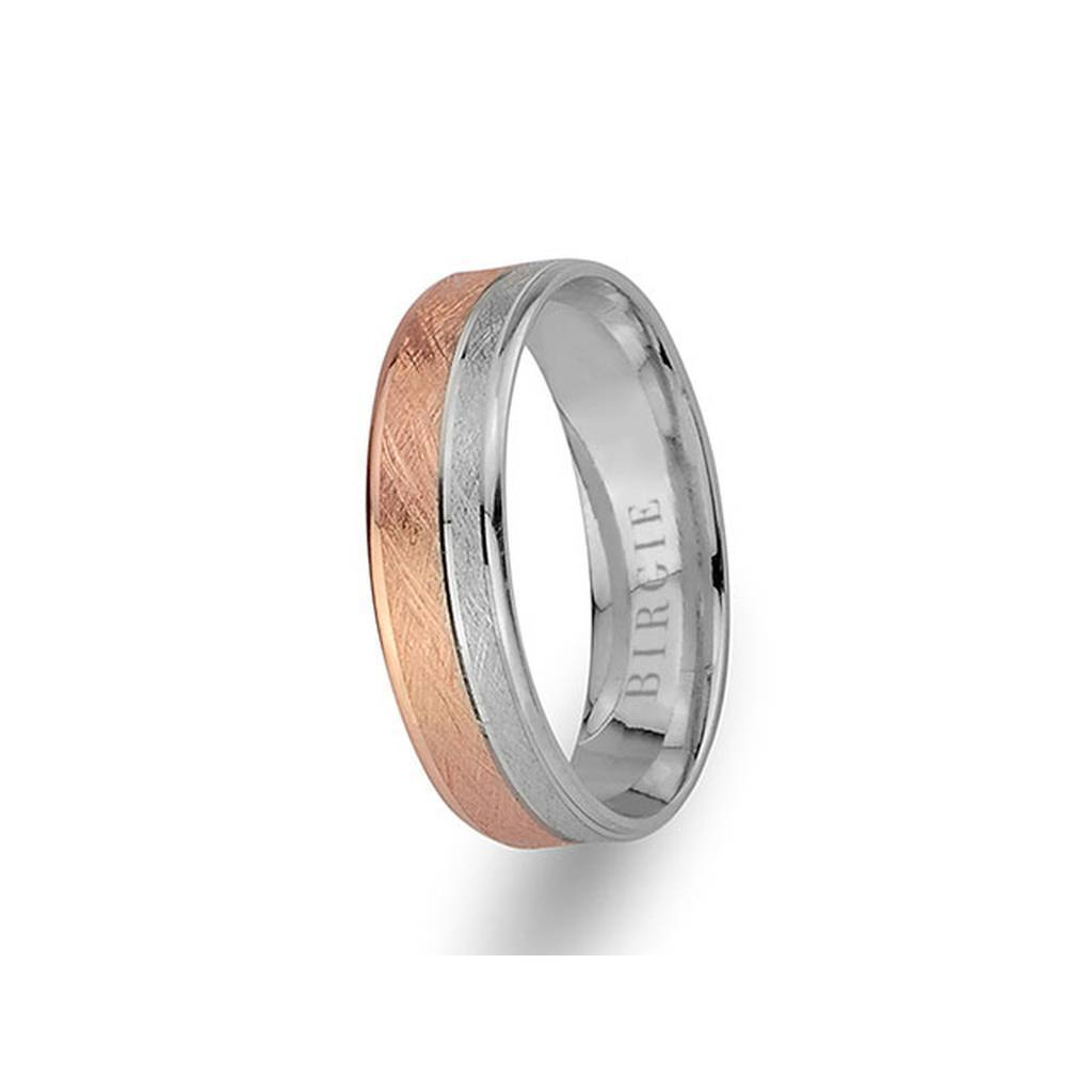 White and Yellow Gold Ani Wedding Band