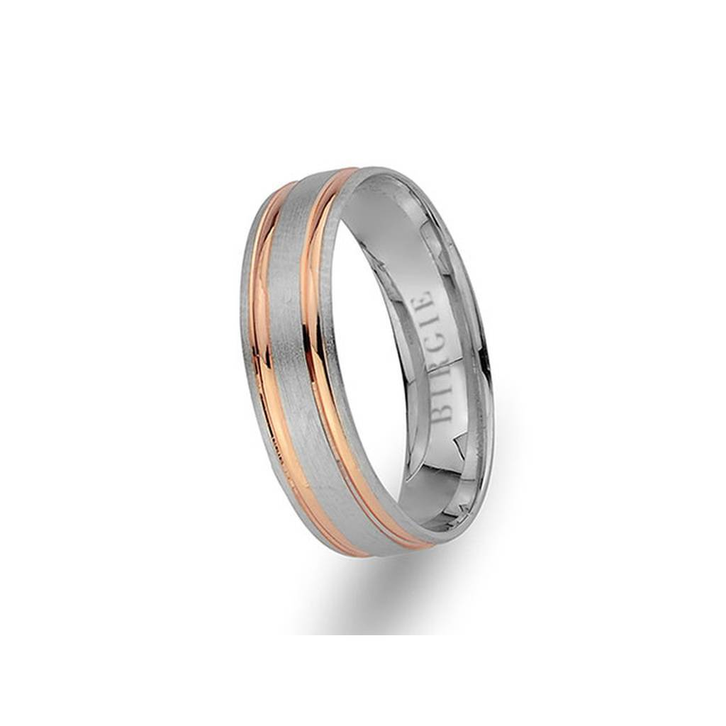 White and Yellow Gold Tushpa Wedding Band