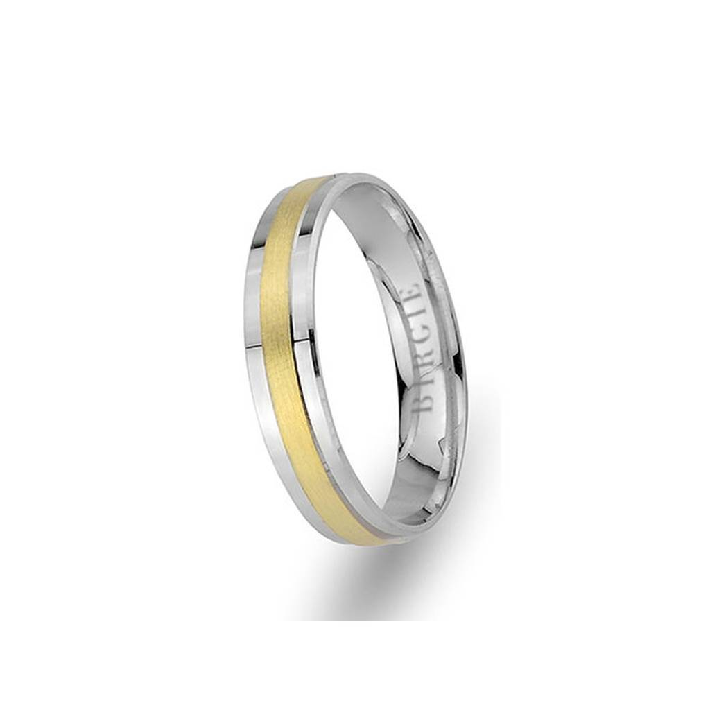 White and Yellow Gold Samarra Wedding Band