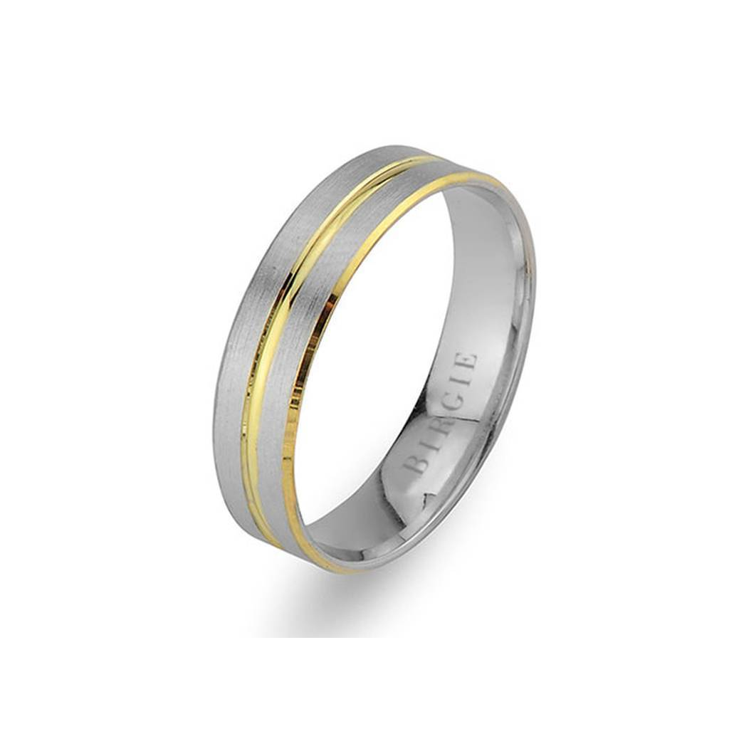 White and Yellow Gold Byblos Wedding Band