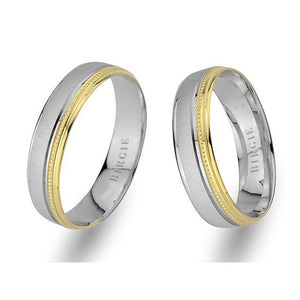 White and Yellow Gold Nevrekop Wedding Band