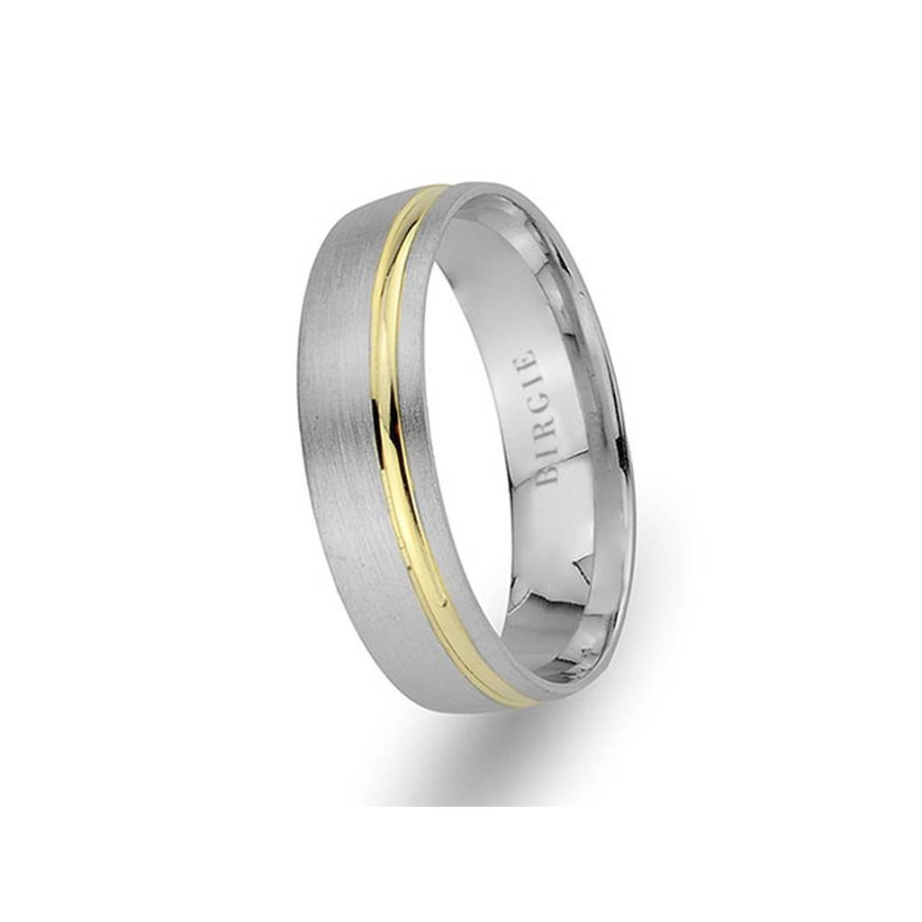 White and Yellow Gold Angkor Wedding Band