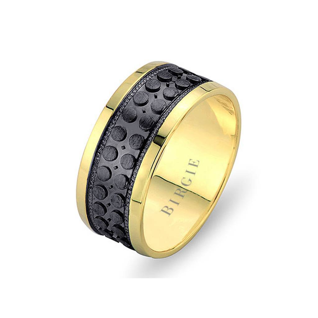 Yellow Gold Saturn Wedding Band