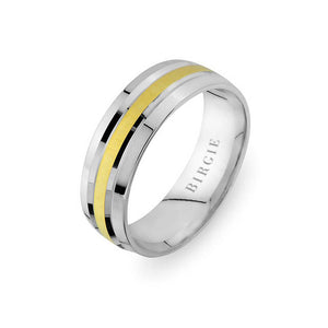 White and Yellow Gold Sureyya Wedding Band
