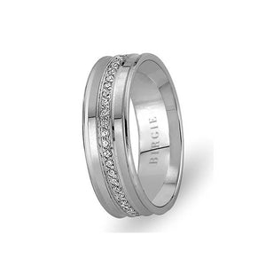 White Gold Ulker Wedding Band w/ Diamonds