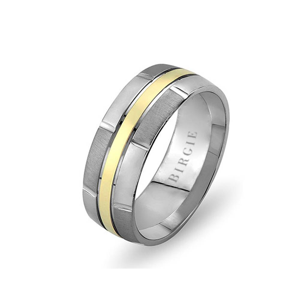 White and Yellow Gold Pervin Wedding Band