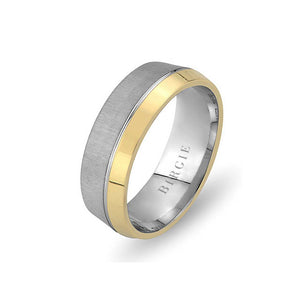 White and Yellow Gold Hamel Wedding Band