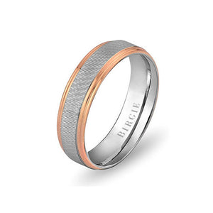 White and Rose Gold Mizan Wedding Band