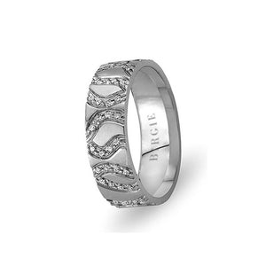 White Gold Sumbule Wedding Band w/ Diamonds